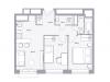"""Схема квартиры в проекте """"Balance""""- #134889234"""