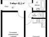 "Схема квартиры в проекте ""Рутаун""- #1665544737"